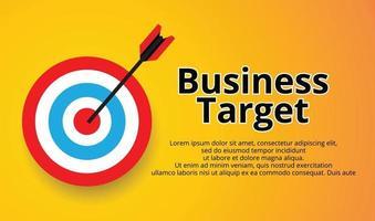 flecha que golpea el objetivo, objetivo comercial vector