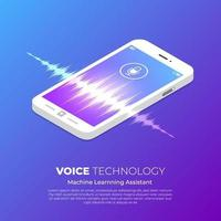concepto de tecnología de voz vector