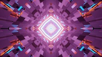 um túnel de vidro em forma de losango ilustração 3 d video