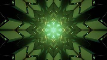 ilustração de 3 d com túnel abstrato curvilíneo video