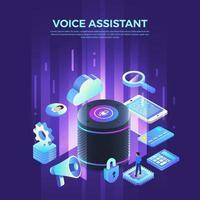 asistente de voz internet de las cosas vector