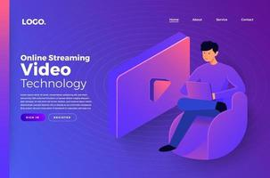 Online Streaming Video Technology vector
