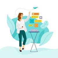 Modern Businesswoman Working vector