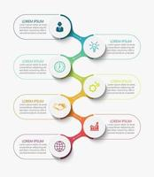 Modern Infographic Connection Template With 7 Options vector