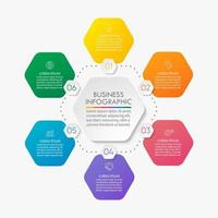 Circle infographic Template With 6 Options. vector