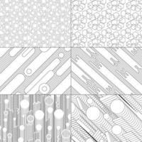 Geometric Line Set vector