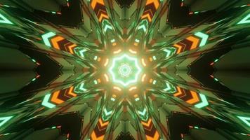 lebendige grüne und orange Tunnel 3 d Illustration