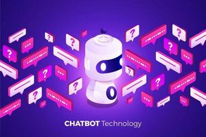 Artificial intelligence chatbot technology vector