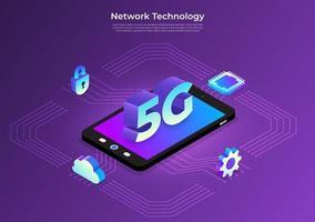 Modern 5G Technology vector