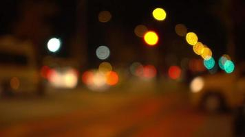 Traffic Bokeh at Night in the Street