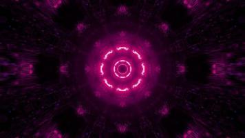 ilustração 3D em movimento rosa e azul neon padrão