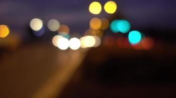 The Traffic Bokeh at Night