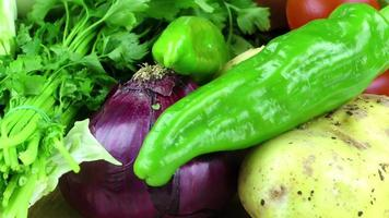 Healthy Raw Vegetables like Onion Parsley Pepper and Potato
