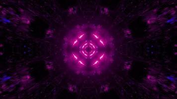 movendo-se através do túnel espacial com luzes coloridas ilustração 3D video