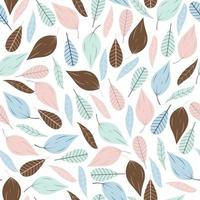 patrón sin costuras con hojas multicolores vector