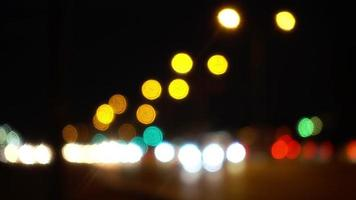 Bokeh of Headlights in Traffic