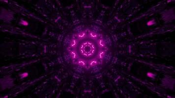 ilustração 3D de néon geométrico dinâmico colorido padrão video