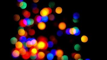 Colorful Background Movement of Bokeh