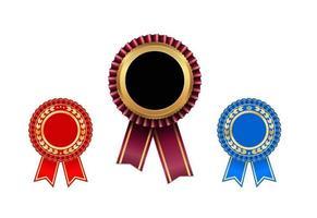 award rosette set vector