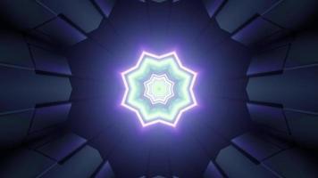 abstracte achtergrond met bewegende neon patroon 3d illustratie video