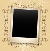 grunge photo frame vector