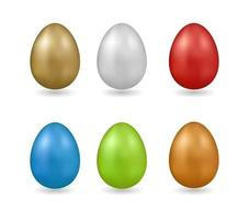 easter egg colored vector