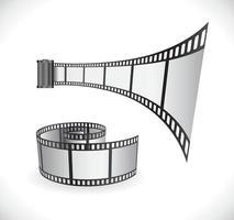 film strip reel icon vector