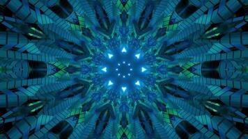 Ilustração 3D do corredor escuro em movimento abstrato