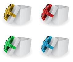 icono de caja de regalo 3d vector