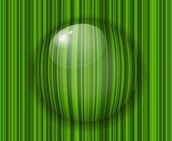 Gota de agua sobre fondo de hierba verde 3d vector