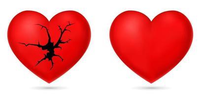 icono de corazon roto vector