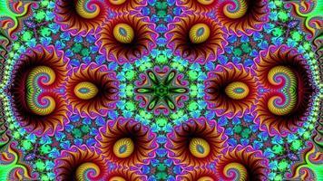 abstrato étnico autêntico padrão simétrico decorativo decorativo movimento caleidoscópio