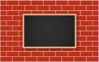 Tablón de anuncios en la pared de ladrillo vector