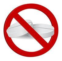 stop sign tablet drug medical 3d icon vector