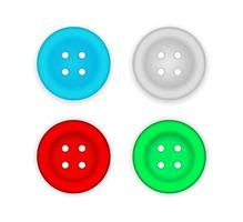 sewing button icon vector