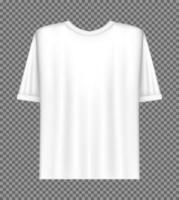 plantilla de camiseta blanca en blanco vector