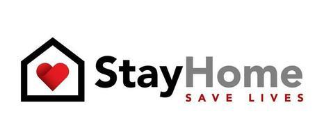 Stay at home. Coronavirus Covid-19, quarantine motivational phrase. vector