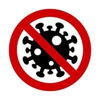 Sign caution coronavirus. Stop coronavirus vector