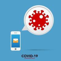 Sign caution coronavirus. Stop coronavirus banner. vector