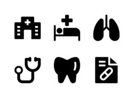 Simple Set of Medical Related Vector Solid Icons