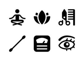 Simple Set of Beauty Related Vector Solid Icons