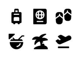 Simple Set of Travel Related Vector Solid Icons