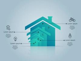 green house, eco friendly infographics vector