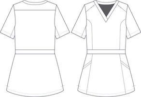 Women Tailored Suit Scrub Top vector