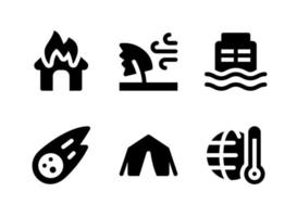 Simple Set of Disaster Related Vector Solid Icons