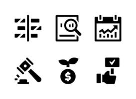 Simple Set of Trading Related Vector Solid Icons