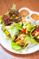 Vietnamese Meatball Wraps photo