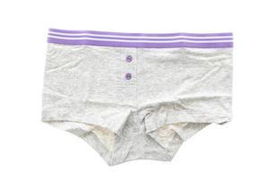 ropa interior de mujer sobre fondo blanco foto