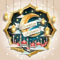 Celebration of Ramadan Kareem Concept vector