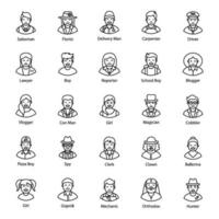 Professional and Working Avatars vector
